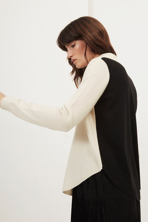 colette cashmere colour block jumper