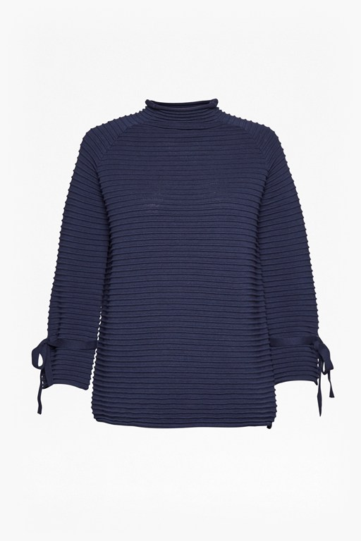 Complete the Look Kimara Cotton Bow Sleeve Jumper