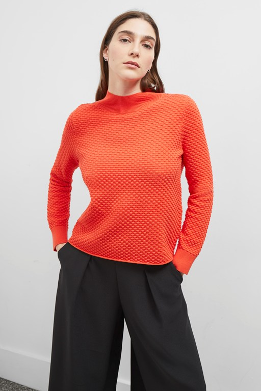 kimara cotton high neck jumper