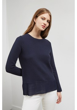Kimara Cotton Pleated Hem Jumper