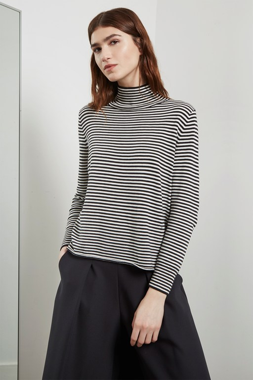 bella basic high neck sweater