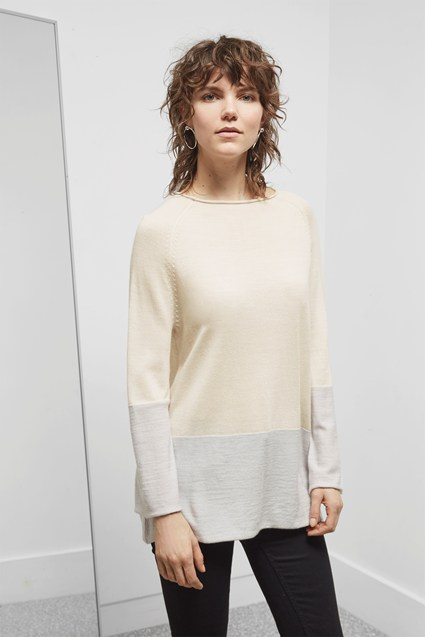 Marley Merino Flared Sleeve Jumper