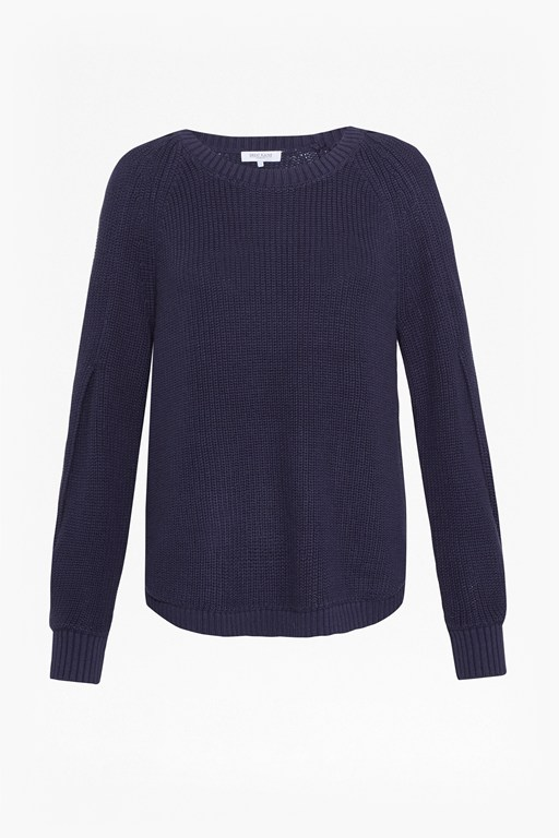 kendall cotton twist sleeve jumper