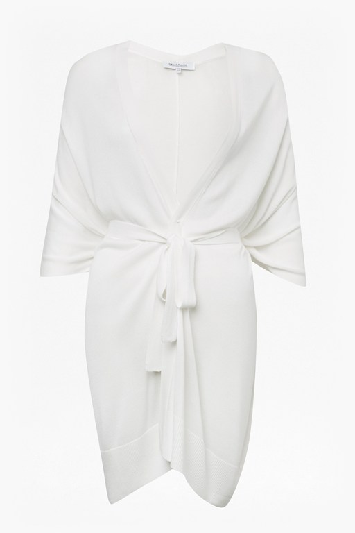 Complete the Look Soft Drape Knit Belted Wrap