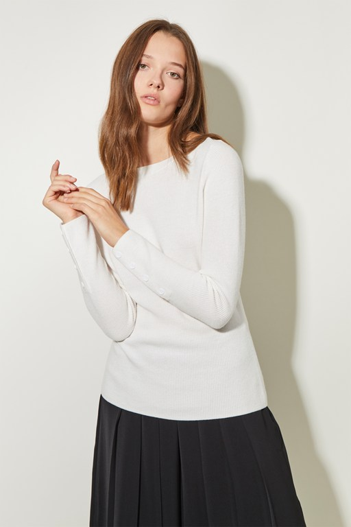 rib knit slash neck jumper