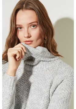Open Stitch High Neck Jumper