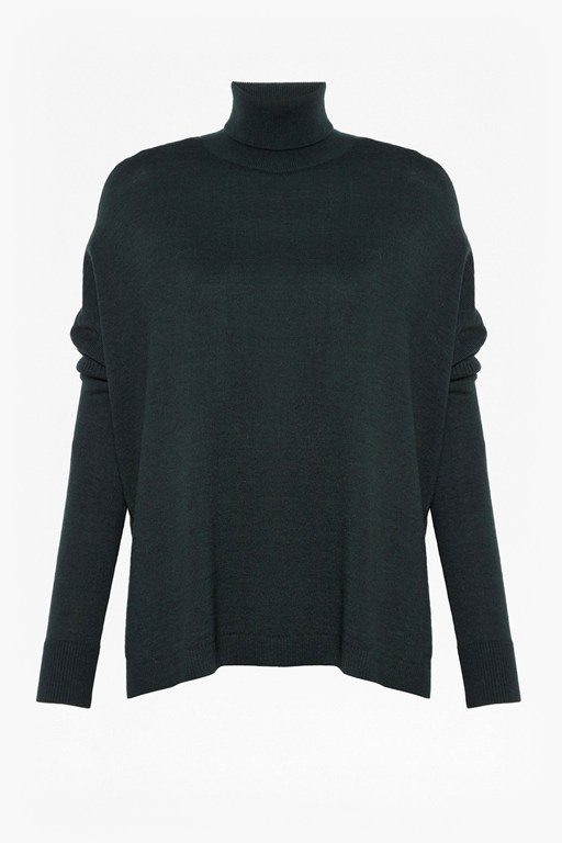 Complete the Look Guernsey Stitch High Neck Jumper