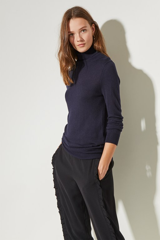 polo knit high neck jumper