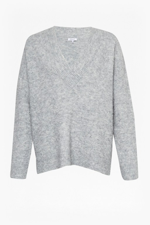 cosy yarn v-neck jumper