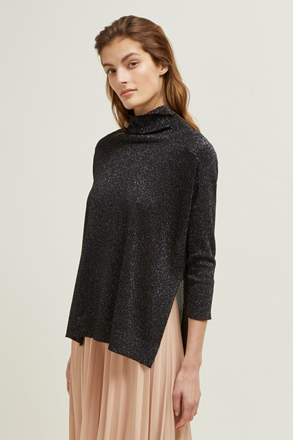 Spangle High Neck Knit Jumper