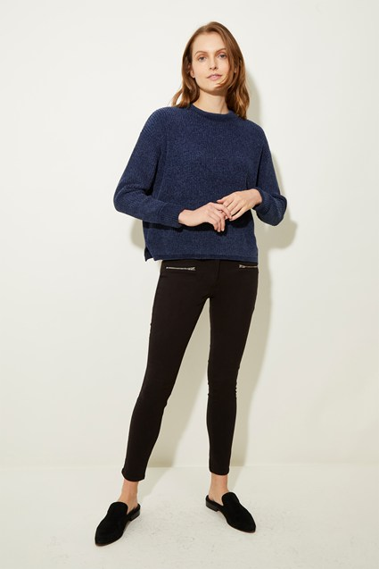 Chenille Cosy Roll Neck Jumper