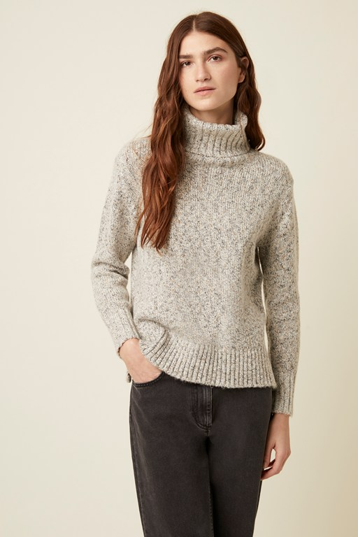 lys knit high neck jumper