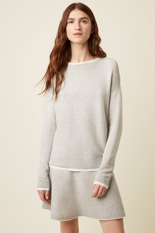 andelle knit crew neck jumper