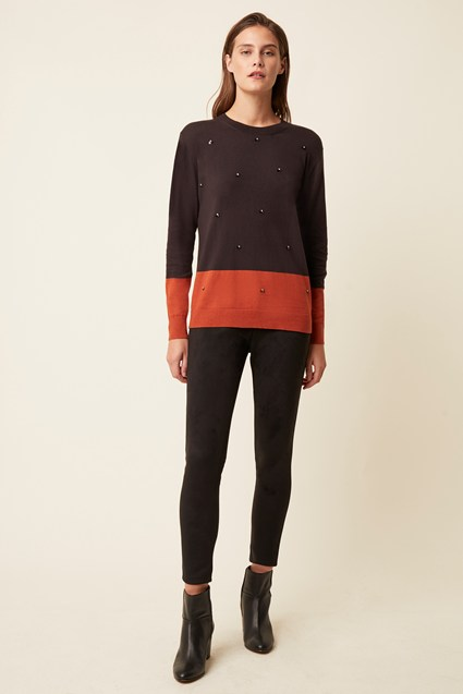 Richmond Sparkle Round Neck Jumper