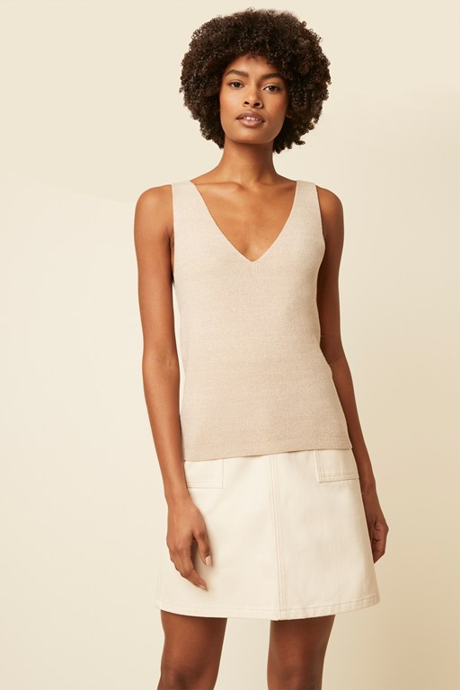 siena knit sleeveless top