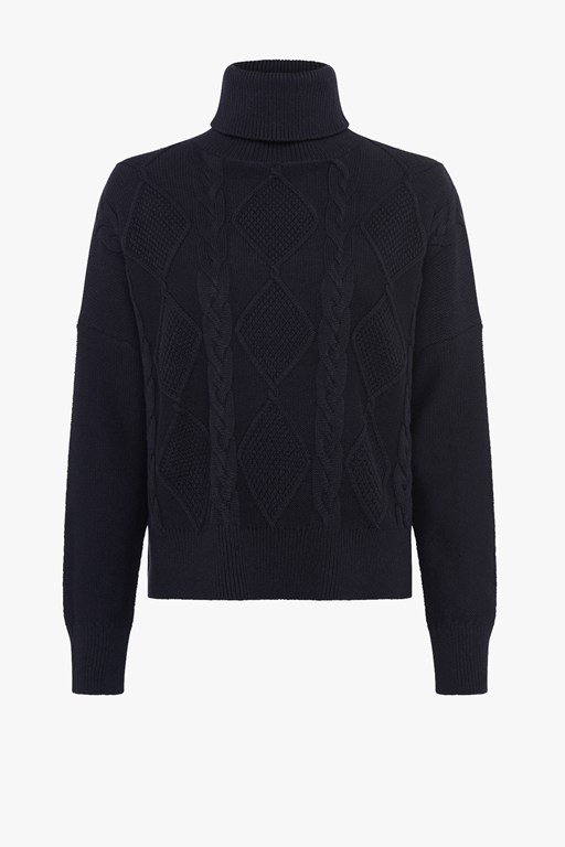 hoyle knit roll neck jumper