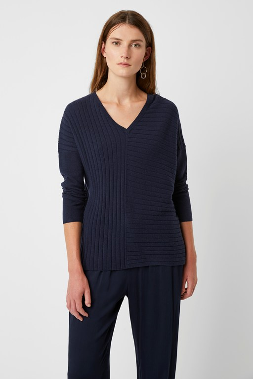 scarlet knit v neck jumper