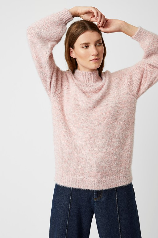 mya knit mock neck jumper