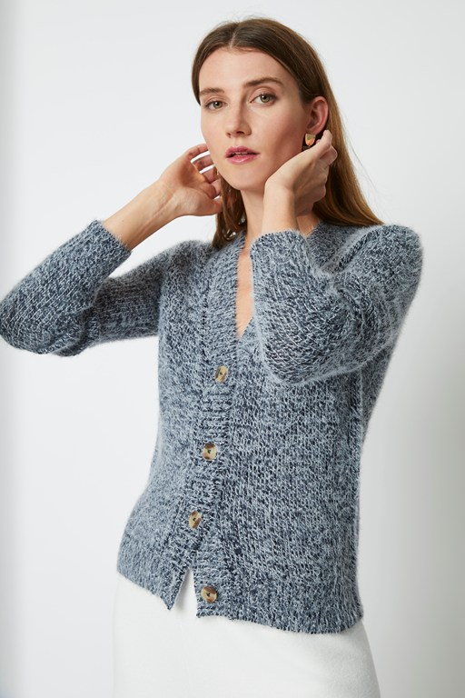 mya knit cropped cardigan