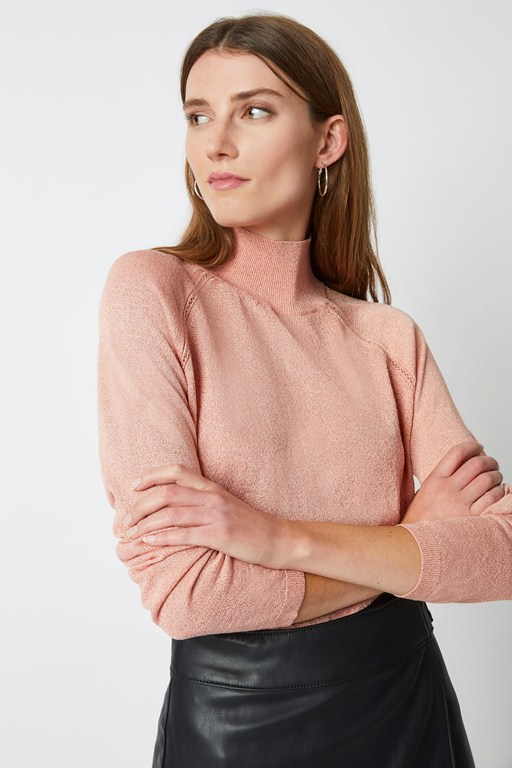 nicol knit mock neck jumper