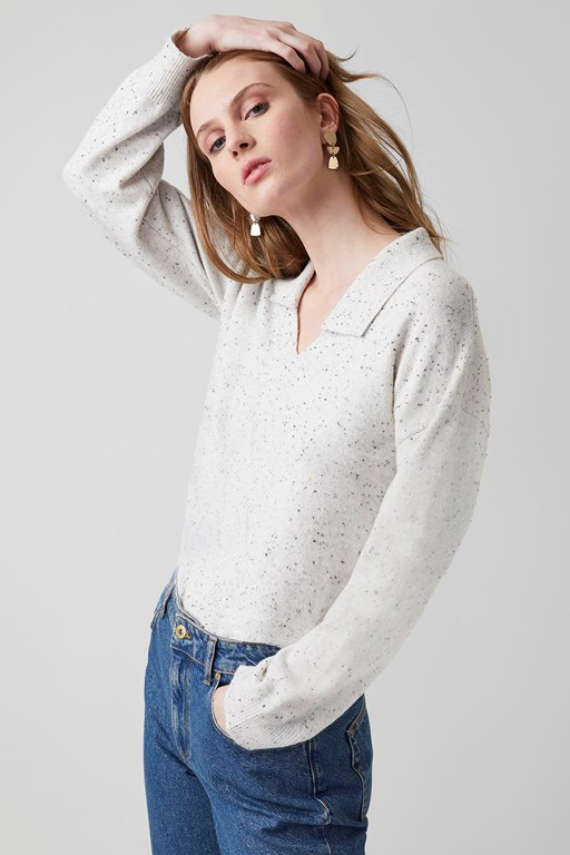 franky knit collared jumper