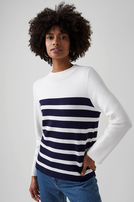 cordell knit striped jumper
