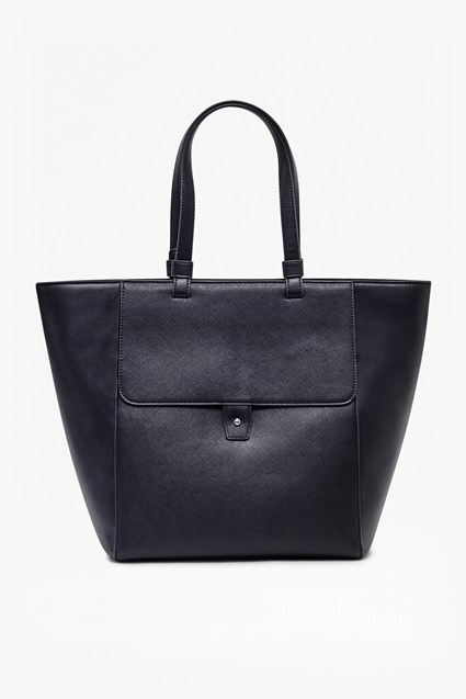 Etch It Out Faux Leather Tote Bag