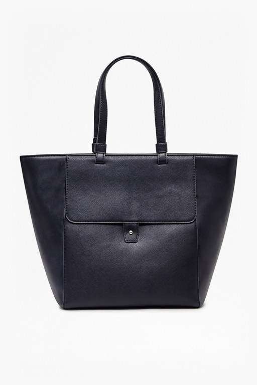 Complete the Look Etch It Out Faux Leather Tote Bag