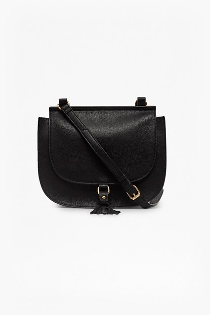 Felicity Faux Leather Saddle Bag