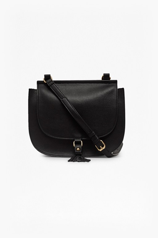 Complete the Look Felicity Faux Leather Saddle Bag