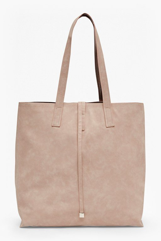 reversible faux leather shopper