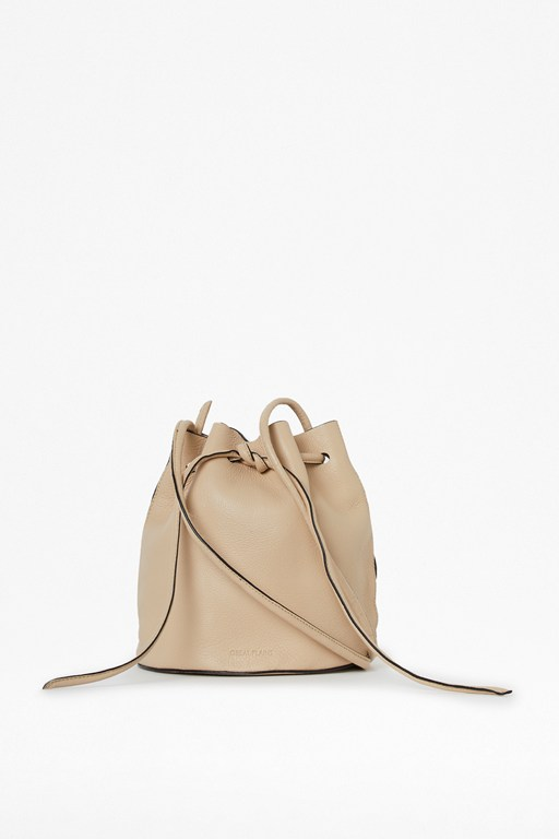 annie leather bucket bag