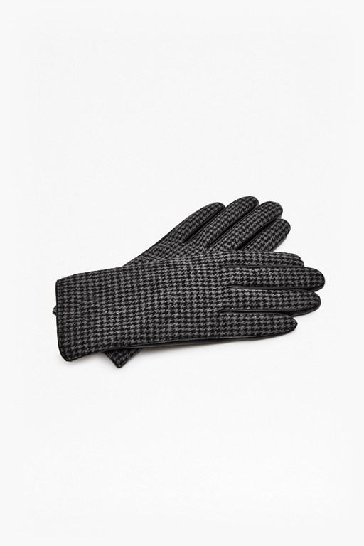 Complete the Look Pistol Check Leather Gloves