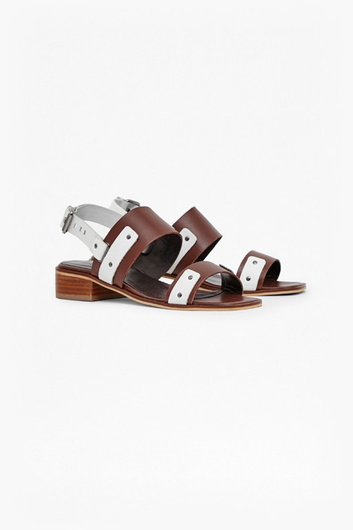 Complete the Look Agatha Two Toned Leather Sandals
