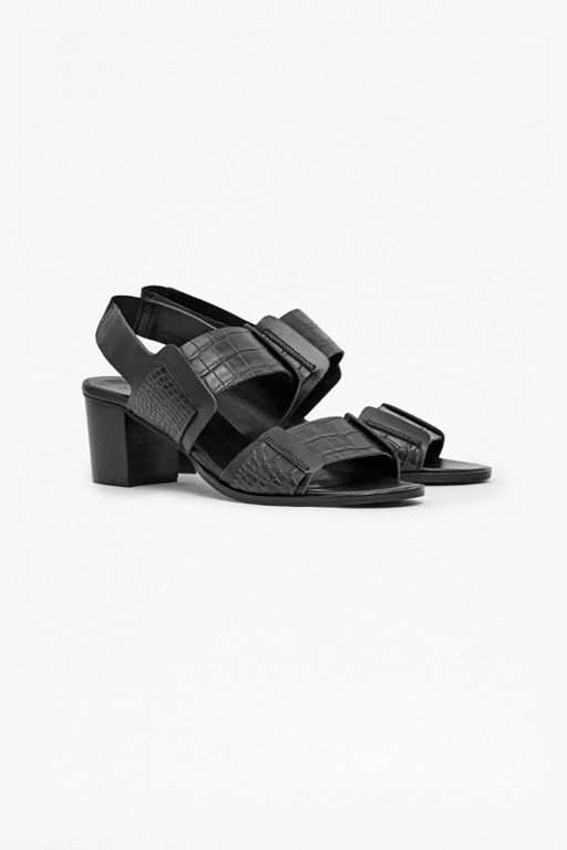 dakota croc effect leather sandals