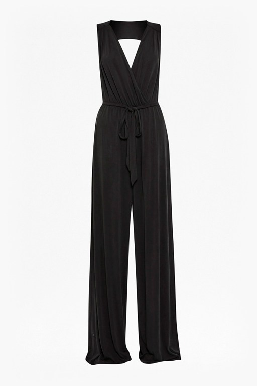 Complete the Look Coolio Cupro Tie Waist Jumpsuit