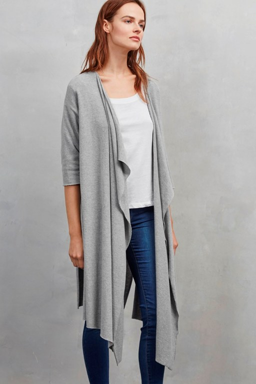 kitten soft waterfall cardigan