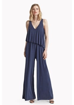 Sand Dance Layered Jersey Jumpsuit