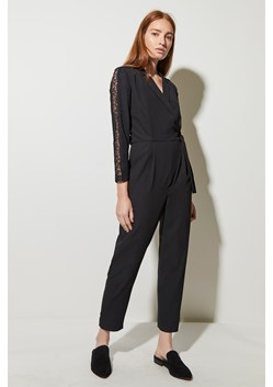 Lace Detail Wrap Front Jumpsuit