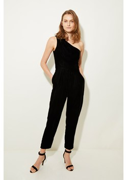 Velvet One Shoulder Jumpsuit