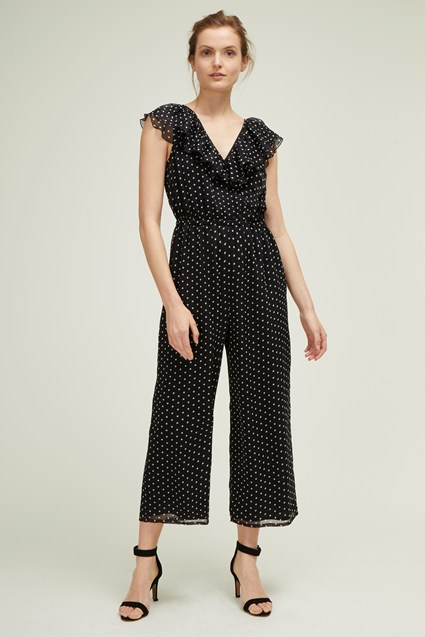 Dana Dot Sleeveless Wide Leg Jumpsuit