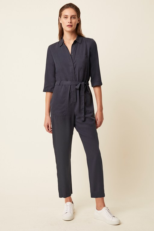 everyday luxe button jumpsuit
