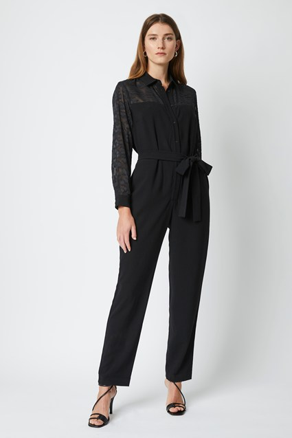 Leo Mix Button Front Jumpsuit