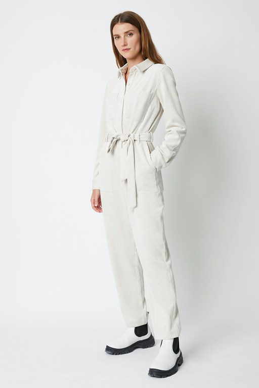 spectrum cord button front jumpsuit