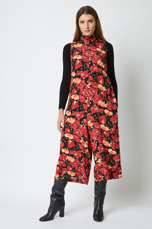 astranta floral tie neck jumpsuit