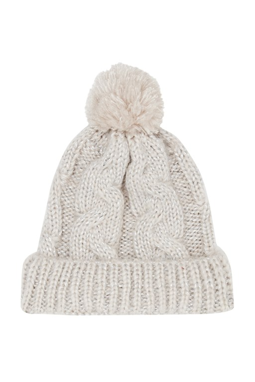 Complete the Look Glitzy Knitted Bobble Hat