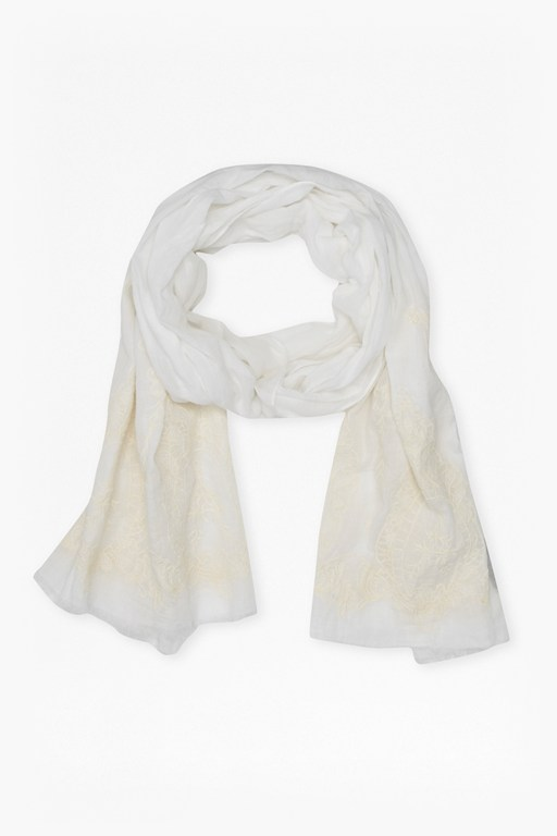 Complete the Look Summer Lace Embroidered Scarf