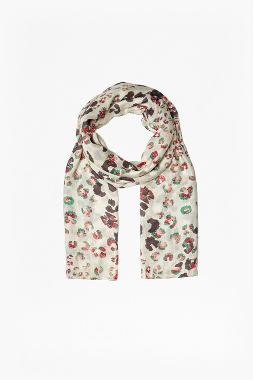 Complete the Look Leopard Kisses Printed Scarf