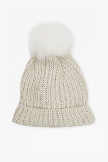Carmela Kitted Pom Pom Hat