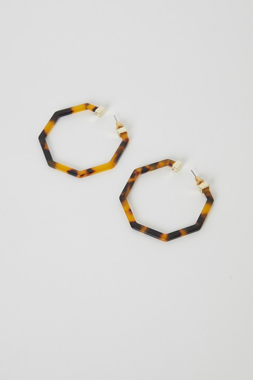 erica tortoiseshell geo earrings